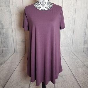 Zenana Premuim Mauve Swing Dress